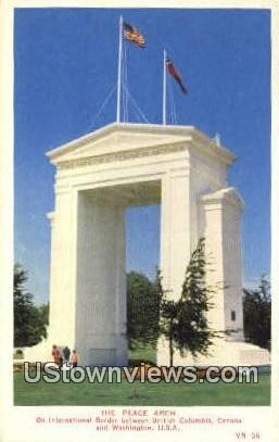 The Peace Arch - Misc, Washington WA Postcard