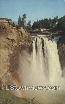 Snoqualmie Falls, Washington,     ;     Snoqualmie Falls, Wash Postcard