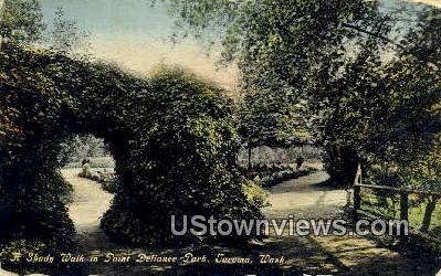 Shady Walk, Point Defiance Park - Tacoma, Washington WA Postcard