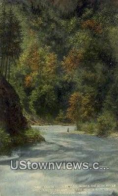 White Salmon River, Wash,     ;     White Salmon River, WA - Washington WA Postcard