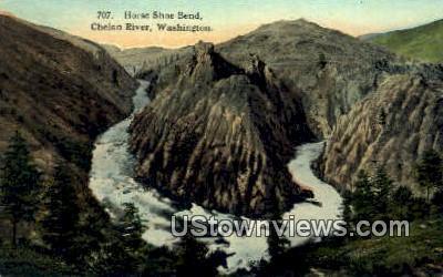 Horse Shoe Bend - Chelan River, Washington WA Postcard