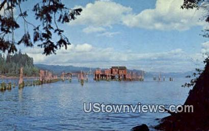 Hungry Harbor - Knappton, Washington WA Postcard