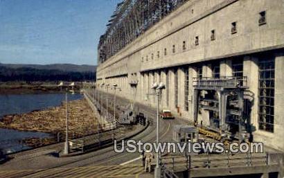 Bonneville Dam Powerhouse, Washington,     ;     Bonneville Dam Powerhouse, WA Postcard