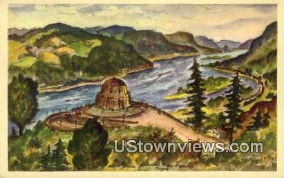 Vista Hosue - Larch Mountain, Washington WA Postcard