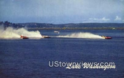 Seattlee Hydroplane Races - Lake Washington Postcards, Washington WA Postcard