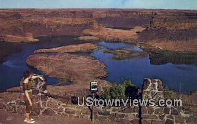 Dry Falls - Eastern Washington Postcards, Washington WA Postcard