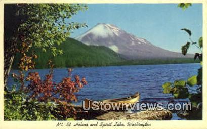Mt St Helens - Spirit Lake, Washington WA Postcard