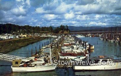 Mooring Basin - Ilwaco, Washington WA Postcard