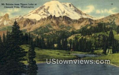 Mt Rainier, Tipsoo Lake - Chinook Pass, Washington WA Postcard