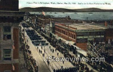 Atlantic Fleet - Bellingham, Washington WA Postcard