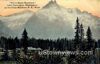 Great Northern RR - White Horse Mountain, Washington WA Postcard