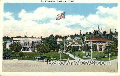 Civic Center - Chehalis, Washington WA Postcard