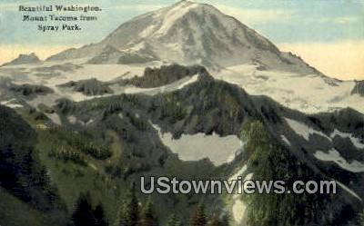 Spray Park - Mt Tacoma, Washington WA Postcard
