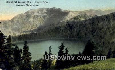 Crater Lake - Cascade Mountains, Washington WA Postcard