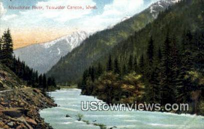 Wenatchee River - Tumwater Canyon, Washington WA Postcard
