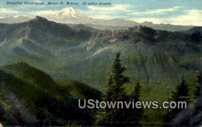 Mt St Helens, Wash,     ;     Mt St Helens, WA - Washington WA Postcard