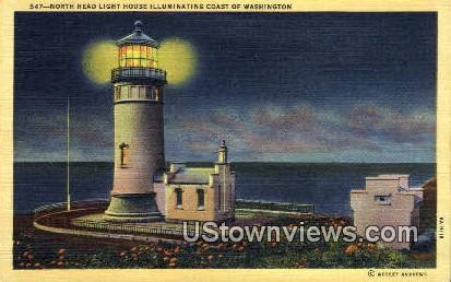 North Head Light - Coast of Washington Postcards, Washington WA Postcard