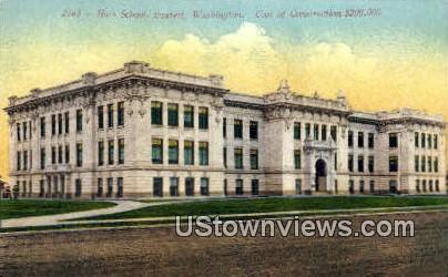 High School, Everett - Washington WA Postcard