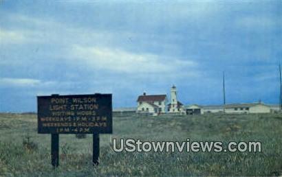 Point Wilson Lighthouse - Port Townsend, Washington WA Postcard