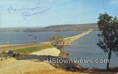 Hood Canal Floating Bridge - Kitsap Peninsula, Washington WA Postcard
