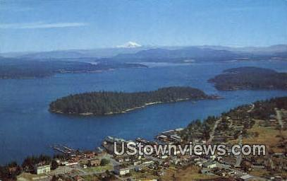 San Juan County - Friday Harbor, Washington WA Postcard