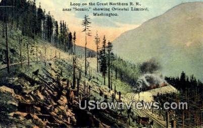 Great Northern RR - Oriental Limited, Washington WA Postcard