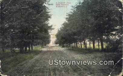 Country Road - Prosser, Washington WA Postcard
