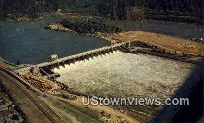 Bonneville Dam - Columbia River, Washington WA Postcard