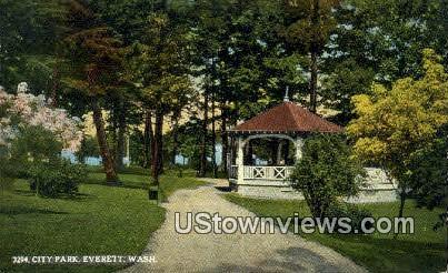 City Park - Everett, Washington WA Postcard