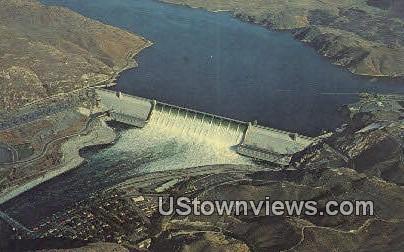 Grand Coulee Dam - Roosevelt Lake, Washington WA Postcard