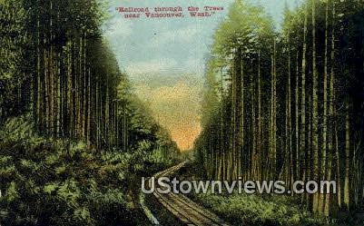 Railroad - Vancouver, Washington WA Postcard