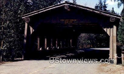 Sudden Valley Covered Bridge - Bellingham, Washington WA Postcard