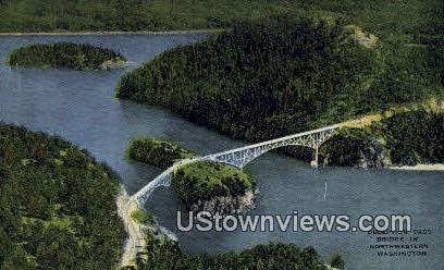 Deception Pass Bridge - Northwestern Washington Postcards, Washington WA Postcard