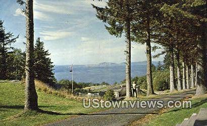 Fort Columbia - Columbia River, Washington WA Postcard