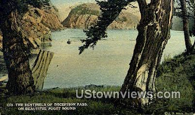 Deception Pass - Puget Sound, Washington WA Postcard