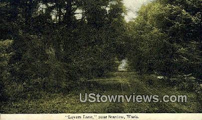 Lovers Lane - Seaview, Washington WA Postcard
