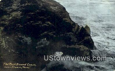 Rock Bound Coast - Ilwaco, Washington WA Postcard