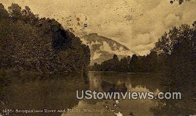 Snoqualmie River - Mt St Washington Postcards, Washington WA Postcard