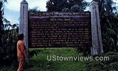 Willie Keil's Grave - Menlo, Washington WA Postcard