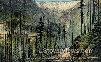 Great Northern RR - Misc, Washington WA Postcard