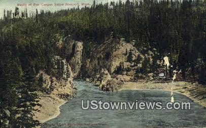 Mouth of Box Canyon - Newport, Washington WA Postcard