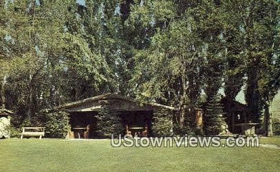 Ox Yoke Lodge - Ohme Gardens, Washington WA Postcard