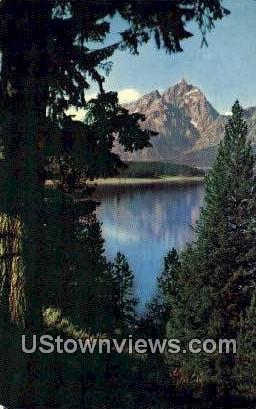 The Tetons - Jackson Lake, Washington WA Postcard