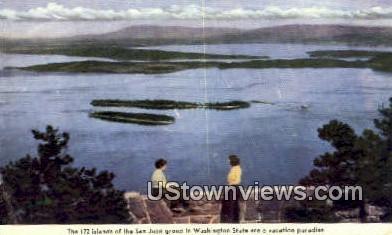 San Juan Group, WA     ;     San Juan Group, Washington Postcard