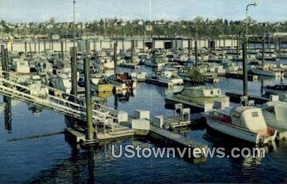 Boat Basin - Everett, Washington WA Postcard