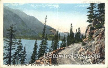 Sunset Highway - Lake Keechelus, Washington WA Postcard