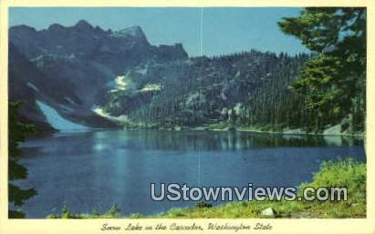 Snow Lake, Washington,     ;     Snow Lake, Wash Postcard