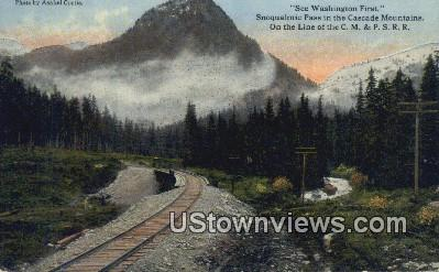Snoqualmie Pass - Cascade Mountains, Washington WA Postcard