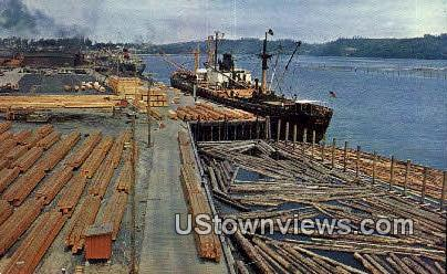 Transporting Lumber - Pacific Northwest, Washington WA Postcard