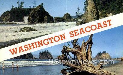 Pacific Ocean Seacoast, Wash,     ;     Pacific Ocean Seacoast, WA - Washington WA Postcard